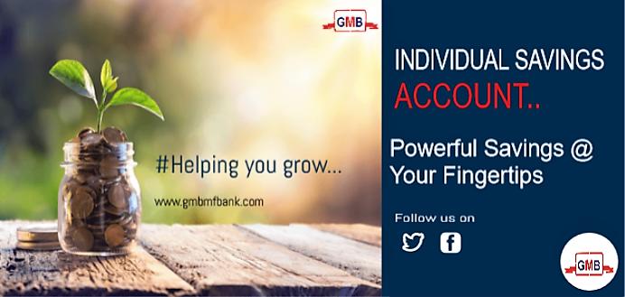 Individual Savings Account Gmb Microfinance Bank